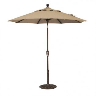 7.5' Market umbrella - Heather Beige