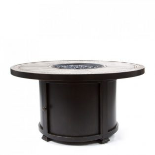 "Melrose 48"" round porcelain top fire pit"