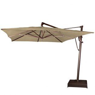10' x 13' rectangle cantilever umbrella - Heather Beige