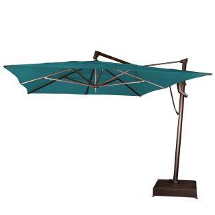 10' x 13' rectangle cantilever umbrella - Spectrum Peacock