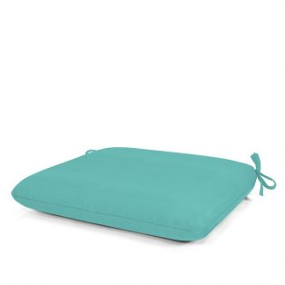 Outdoor dining seat cushion with Sunbrella fabric