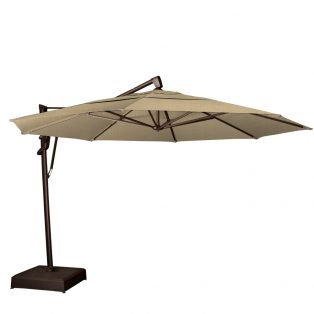 13' octagon cantilever umbrella - Heather Beige