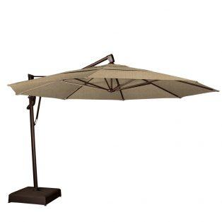 13' octagon cantilever umbrella - Sesame Linen