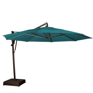 13' octagon cantilever umbrella - Spectrum Peacock