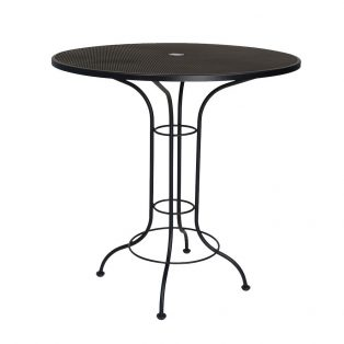 "42"" round bar height micro mesh top table"