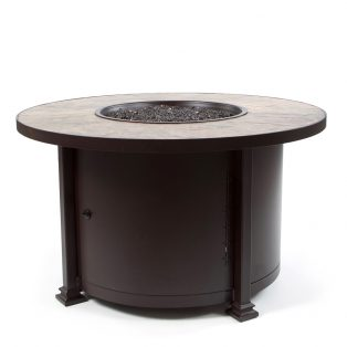 "42"" Round chat height Santorini fire pit - Rustic Slate"