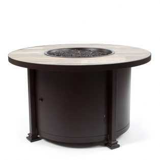 "42"" Round chat height Santorini fire pit - Venice Beach"