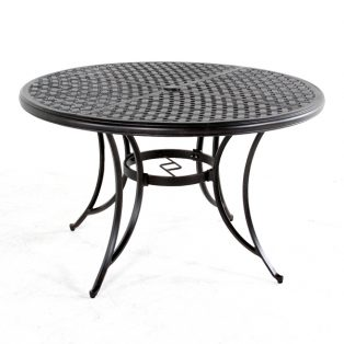 "Heritage 48"" round cast top dining table"