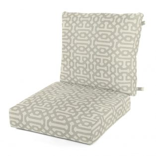 Outdoor deep seating cushion with Sunbrella fabric