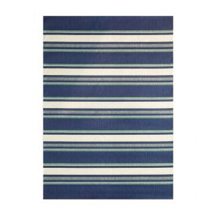 5' x 7' Hampton Bay Blue outdoor area rug from Treasure Garden