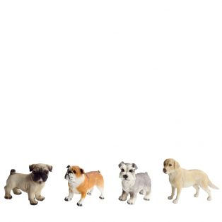 "Dog figurines 6""H - Set of 4"