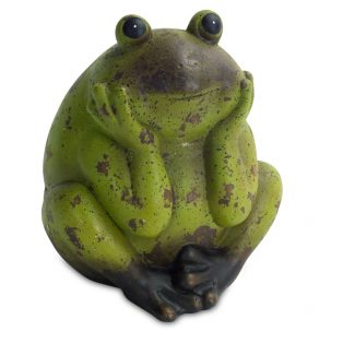 Terracotta frog sculpture - Set of 2