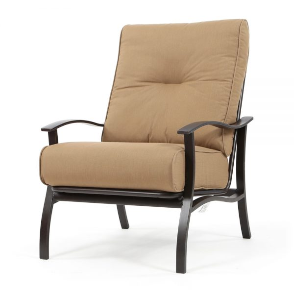 Albany outdoor club chair with Spectrum Caribou cushions