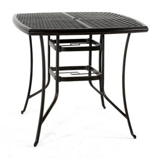 """Heritage 42"""" square cast top bar table"""