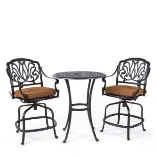 Biscayne 3 piece counter height set with Canvas Teak fabric
