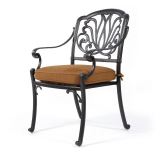 Biscayne dining chair with Canvas Teak fabric