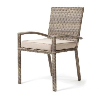 Cabo wicker dining chair with a Willow weave and Blend Sand fabric