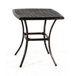 """Heritage 26"""" square cast top cafe table"""