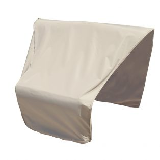 Sectional or modular wedge end (left facing) cover