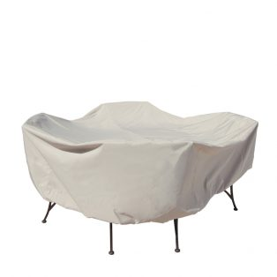 """48"""" round table & chairs cover CP551"""