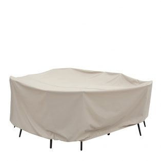 """60"""" round table and chair cover CP590"""