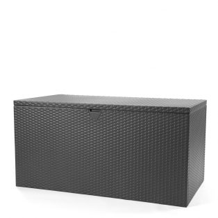 Outdoor storage deck box with an Anthracite finish