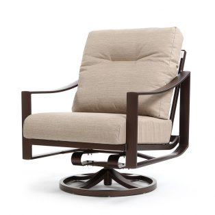 Kenzo swivel action lounger - Light Brewed fabric
