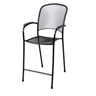 Monaco outdoor balcony chair with a Black finish
