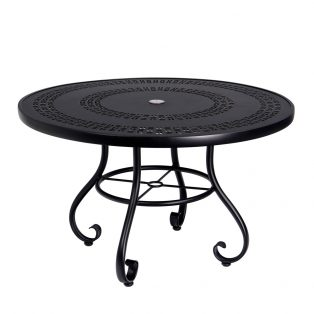 """Ramsgate 48"""" round dining table with umbrella hole"""