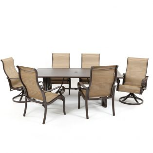 Riva sling aluminum 7 piece dining set