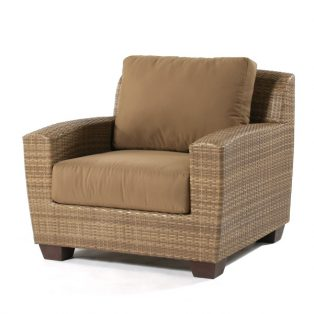 Saddleback Wicker Lounge Chair