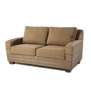 Saddleback Wicker Loveseat