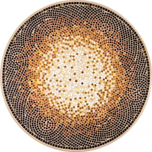Café Au Lait outdoor mosaic table top - Available in multiple sizes and shapes