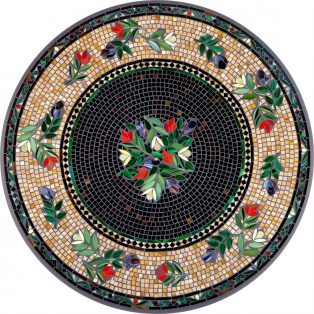 Maritz outdoor mosaic table top - Available in multiple sizes and shapes