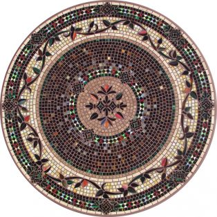 Prague outdoor mosaic table top - Available in multiple sizes and shapes