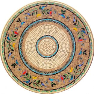 Sunrisa outdoor mosaic table top - Available in multiple sizes and shapes