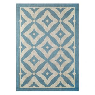 "Charleston Spa 7'10"" x 10' patio area rug from Treasure Garden"
