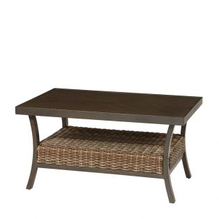 "Trenton 28"" x 42"" woven slat top coffee table"