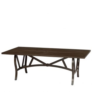 "Trenton 42"" x 80"" slat top dining table"