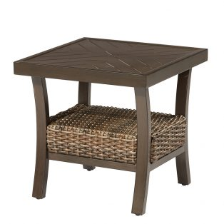 "Trenton 22"" square slat top side table"