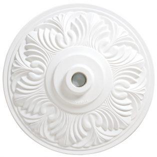 Umbrella base 50lb - Art Deco - white top view