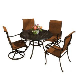 Valbonne Sling 5 piece outdoor dining set