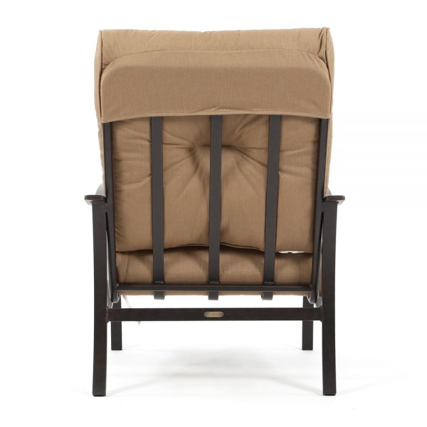Mallin Albany outdoor club chair back view