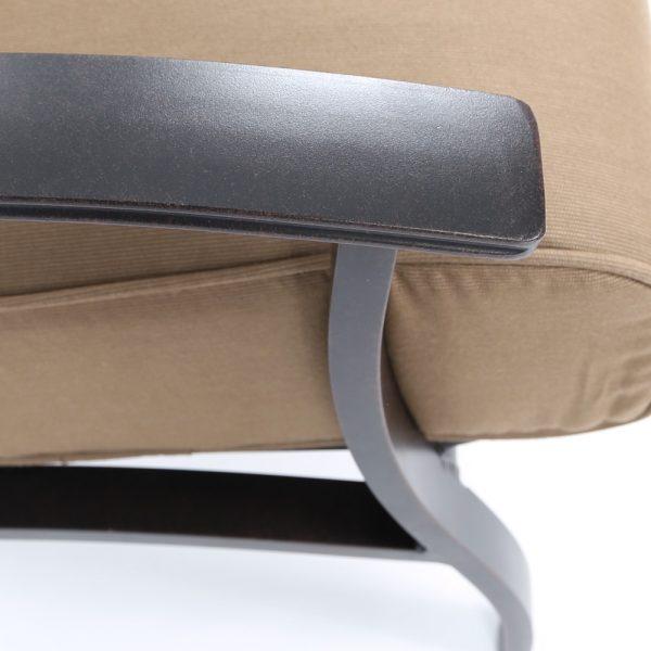 Mallin aluminum club chair with a Autumn Rust powder coat finish