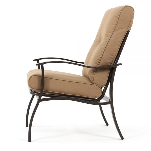Albany patio dining chair side view