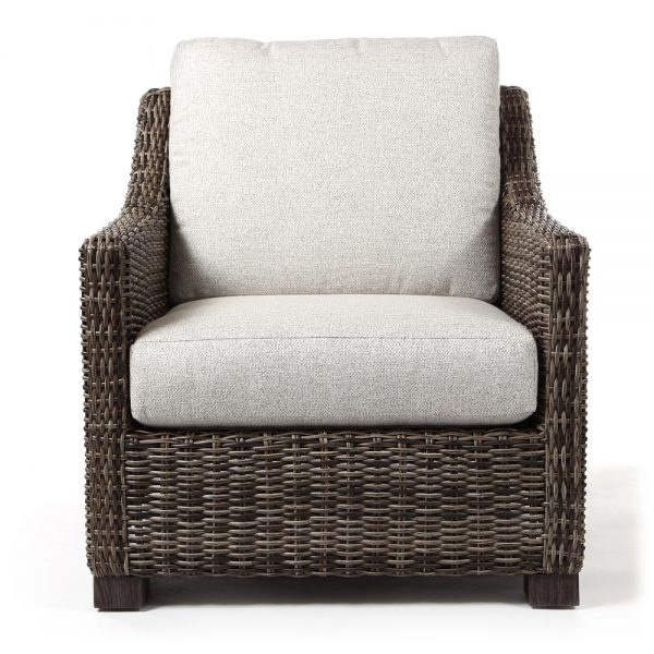 Avallon wicker club chair front view