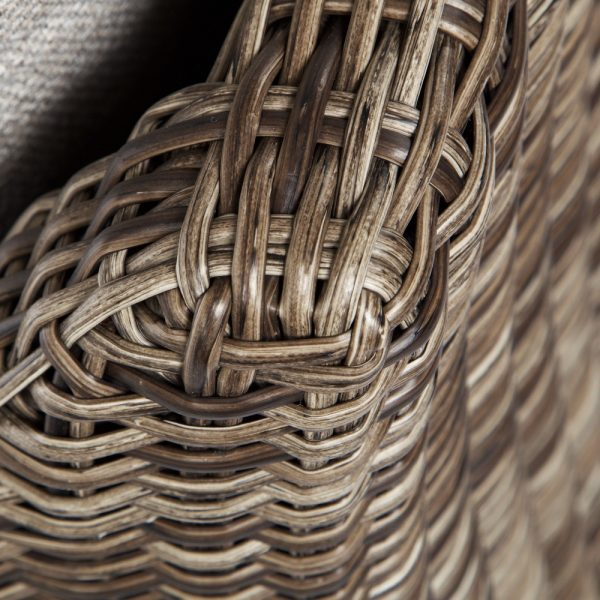 Ebel Avallon wicker club chair with a Hickory weave