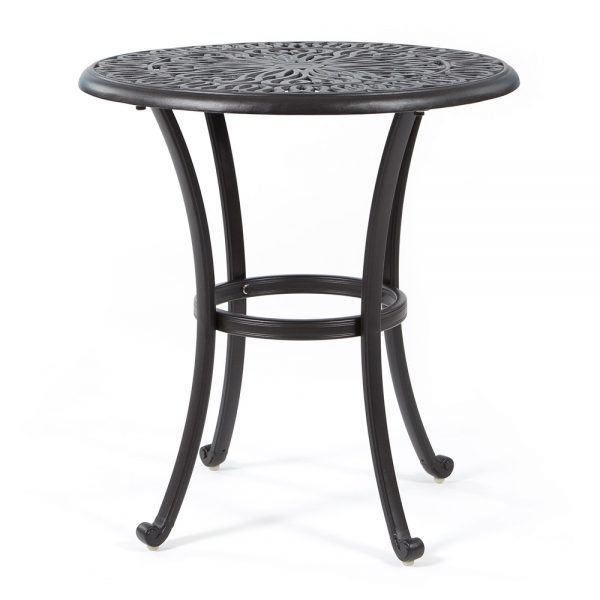 "Biscayne 26"" round cast aluminum bistro table"
