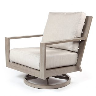 Destin swivel rocker club chair with Echo Ash cushions