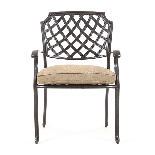 Agio Heritage outdoor dining chair front view